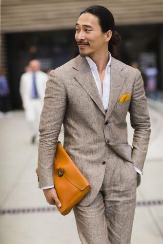 costume en lin homme