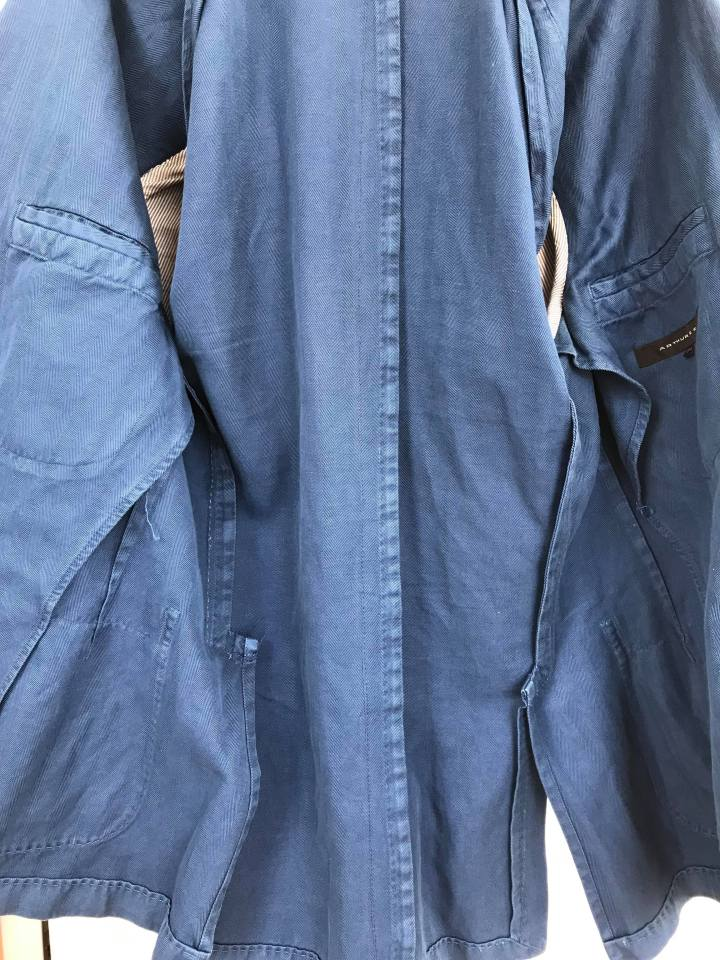 veste non doublée bleu